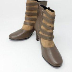 AEROSOLES Leather Zip Up Boots Sz 8M NWOT